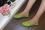 Босоножки женские салатовые натуральная кожа Б210, фото 6