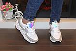 Кроссовки женские белые с серыми вставками Т035, фото 6