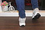 Кроссовки женские белые с серыми вставками Т035, фото 8