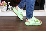 Босоножки женские зеленые Б328, фото 3