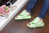 Босоножки женские зеленые Б328, фото 4