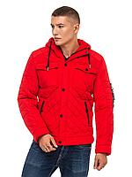 Стильная мужская курткаа демисезонная красная размер 48-56