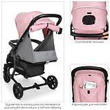 Коляска дитяча ME 1011L ZETA Pale Pink, фото 6