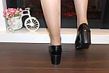 Туфли женские черные на танкетке Т350, фото 5