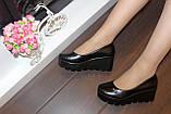 Туфли женские черные на танкетке Т350, фото 6