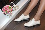 Туфли женские бежевые натуральная кожа Т018, фото 4