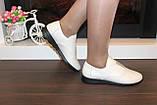 Туфли женские бежевые натуральная кожа Т018, фото 6
