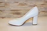 Туфли женские белые на каблуке код Т023, фото 2