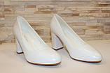 Туфли женские белые на каблуке код Т023, фото 3