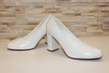 Туфли женские белые на каблуке код Т023, фото 4