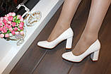 Туфли женские белые на каблуке код Т023, фото 5