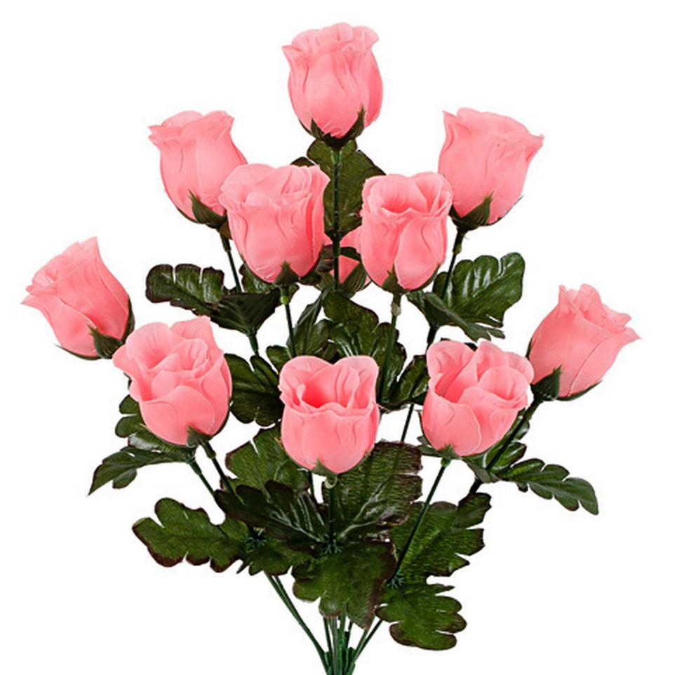 Букет бутон розы, 42см (20 шт. в уп.)