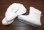Сапоги дутики женские белые зимние С881, фото 3
