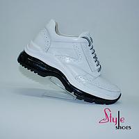 Ботинки женские «сникеры» белые, фото 1