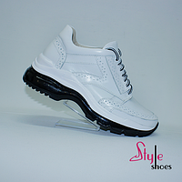 Ботинки женские «сникеры» белые