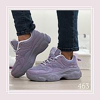 Женские кроссовки на шнурках сетка серая/беж, фото 1