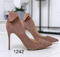 Туфли женские темная пудра   классика, фото 1