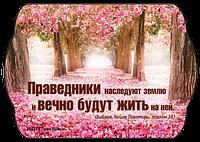 """Магнит виниловый """"Праведники наследуют землю"""""""