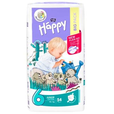Подгузники Bella Happy Junior 6 (16+кг) BIG PACK 54 шт.