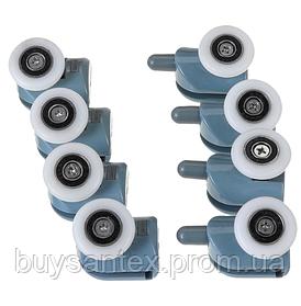 Ролики для душових кабін, гідромасажних боксів В-43A + B комплект 8шт.