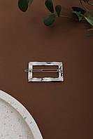 Заколка Анета серебряная Длина 6(см)/ Ширина 4(см) (2010-3)