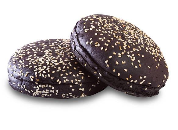 Черная Булочка для Бургера с кунжутом 0,08 кг (30 шт), фото 2