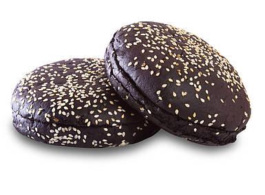 Чорна Булочка для Бургера з кунжутом 0,08 кг (30 шт)