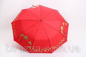 Зонт Ализ красный Диаметр купола 99.0(см)/ Длина спицы 56.0(см)/ Длина в сложенном виде 33.0(см) (7040)