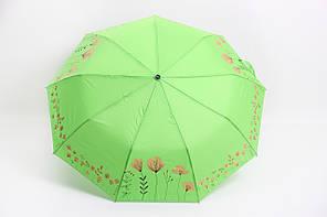 Зонт Ализ салатовий Діаметр купола 99.0(см)/ Довжина спиці 56.0(см)/ Довжина в складеному вигляді 33.0(см)