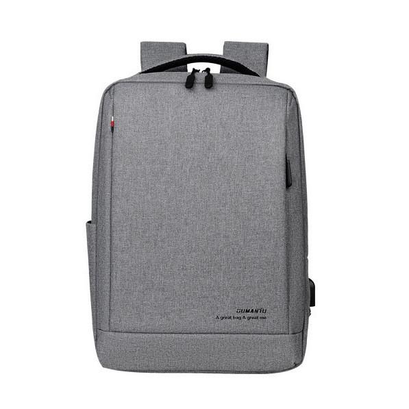 """Рюкзак противоударный для ноутбука 15,6"""" с USB, серый цвет ( код: IBN010S )"""