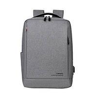 """Рюкзак противоударный для ноутбука 15,6"""" с USB, серый цвет ( код: IBN010S ), фото 1"""