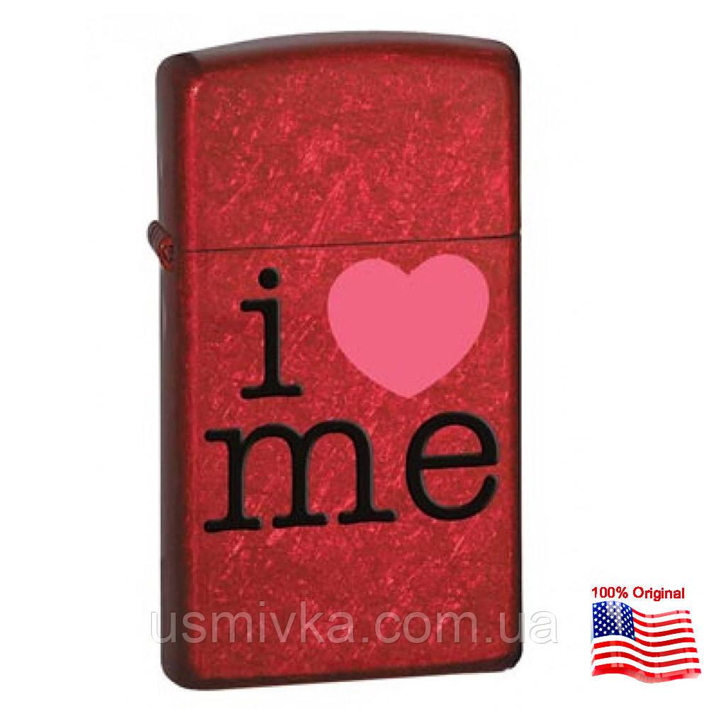 Зажигалка Zippo 24352 I Love Me красная 24352