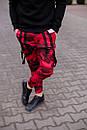 Мужские красные штаны Джогеры, фото 3