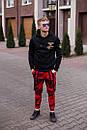 Мужские красные штаны Джогеры, фото 2