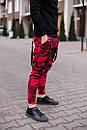 Мужские красные штаны Джогеры, фото 4