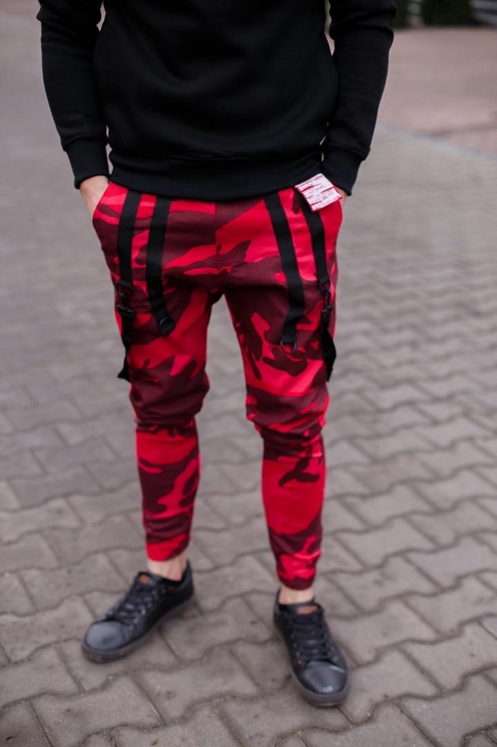 Мужские красные штаны Джогеры