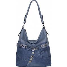 Сумка женская №87221 джинс Голубой