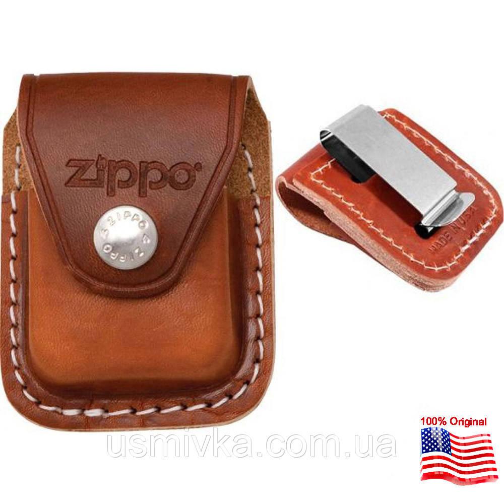 Чехол Zippo с клипсой коричневый 121632