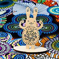 Іграшка фігурка з фанери декор Великодний зайчик