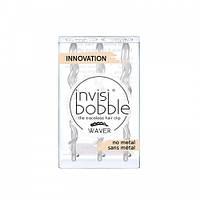 Заколка-невидимка для волос Invisibobble Wawer. Оригинал. В коричневом и прозрачном цвете. Ценаза штуку.