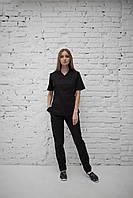 Медицинский женский костюм врача (Черный)