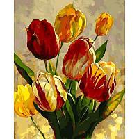 Картина по номерам Тюльпаны Q2182 в коробке Mariposa 40х50см Цветы, фрукты, натюрморты, еда