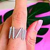 Оригинальное женское серебряное кольцо, фото 5
