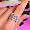 Оригинальное женское серебряное кольцо, фото 4