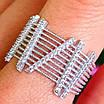 Оригинальное женское серебряное кольцо, фото 2