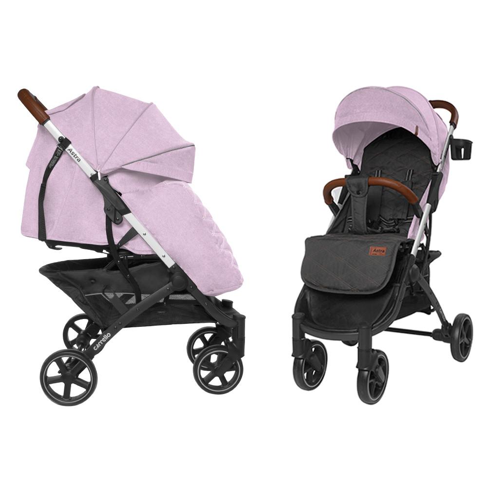 Коляска прогулочная CARRELLO Astra CRL-5505 Apricot Pink + дождевик