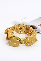 Повязки на голову - тюрбаны Повязка на голову Карен желтая One size (P-2002)