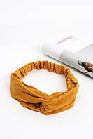 Повязки на голову - тюрбаны Повязка на голову Линет желтая One size (P-2005)