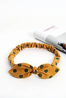 Повязки на голову - тюрбаны Повязка на голову Луиза желтая One size (P-2003)