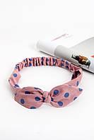 Повязки на голову - тюрбаны Повязка на голову Луиза пудровая One size (P-2003)
